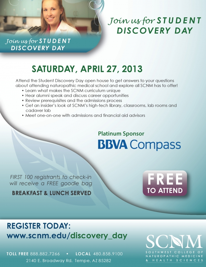 April 2013 Discovery Day Flyer Student