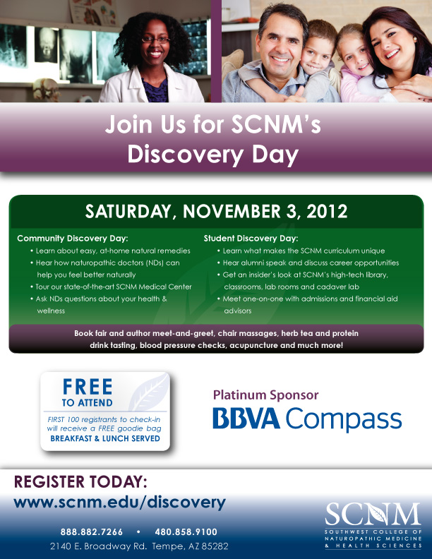 November 2012 Discovery Day Combo Flyer