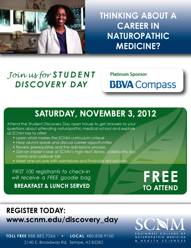 November 2012 Discovery Day Student Flyer