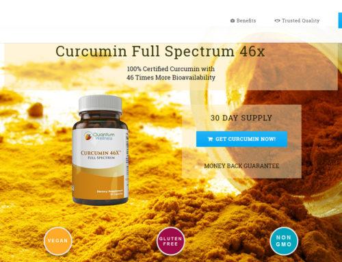 Curcumin Landing Page
